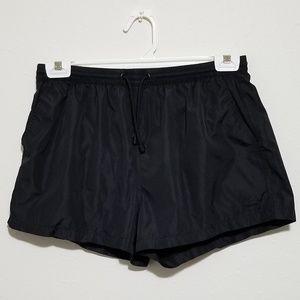 Zara Man XL Solid Black Short Swimming Shorts